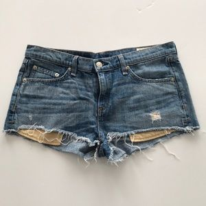 Rag & Bone Cut off  Jean Shorts 28